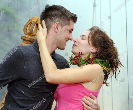 Winner, Queen of the Jungle Stacey Solomon with boyfriend Aaron Barham.