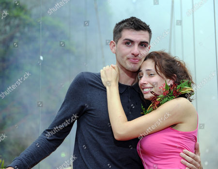 Stock Picture of Winner, Queen of the Jungle Stacey Solomon with boyfriend Aaron Barham.