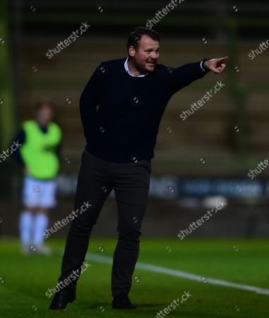 Darren Sarll, Manager of Yeovil Town during the National League Match between Yeovil Town and Woking at Huish Park on 26 Oct, 2021 in Yeovil, England (Photo by Mat Mingo/PPAUK)