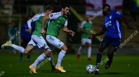 Joe Quigley of Yeovil Town on the break during the National League Match between Yeovil Town and Woking at Huish Park on 26 Oct, 2021 in Yeovil, England (Photo by Mat Mingo/PPAUK)