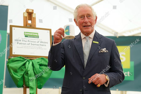 Prince Charles, Patron of Samaritans, after unveiling a plaque during a visit to the Gloucester and District Branch of Samaritans in Gloucester, to celebrate their 50th Anniversary and hear about the recent work of the charity.