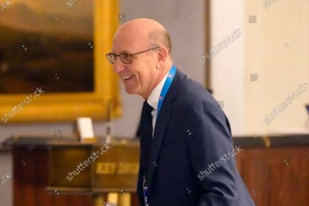 Joel Glazer, owner of the Tampa Bay Buccaneers, arrives for an NFL football owners meeting in New York