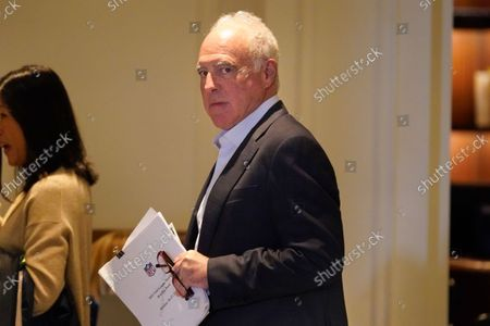 Stock Photo of Jeff Lurie, owner of the Philadelphia Eagles, arrives for an NFL football owners meeting in New York