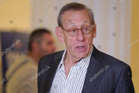 Stephen Ross, owner of the Miami Dolphins, arrives for an NFL football owners meeting in New York