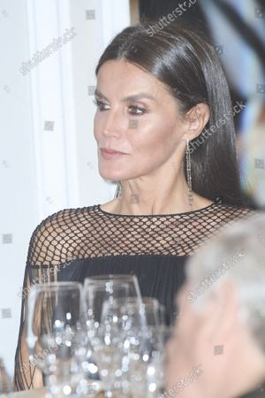 Queen Letizia attends the 'Francisco Cerecedo' journalism awards at Mandarin Oriental Ritz Hotel on October 26, 2021 in Madrid, Spain