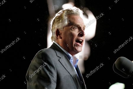 Democratic gubernatorial candidate former Virginia Gov. Terry McAuliffe speaks during a rally, in Arlington, Va. McAuliffe will face Republican Glenn Youngkin in the November election