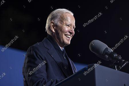 Editorial photo of President Biden campaigns for Terry McAuliffe in Virginia, Arlington, Virginia, USA - 26 Oct 2021