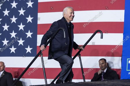 United States President Joe Biden prepares to campaign for Virginia Democratic gubernatorial candidate Terry McAuliffe in Arlington, Virginia, USA, 26. McAuliffe is running against Republican Glenn Youngkin; the election takes place on 02 November 2021.