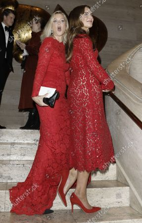 Stock Photo of Actresses Ali Wentworth, left, and Brooke Shields arrive on the red carpet at American Ballet Theatre's Fall Gala at the David H. Koch Theater on Tuesday, October 26, 2021 in New York City.       .