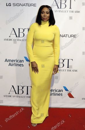 Actress Karen Pittman arrives on the red carpet at American Ballet Theatreâ€s Fall Gala at the David H. Koch Theater on Tuesday, October 26, 2021 in New York City.       .