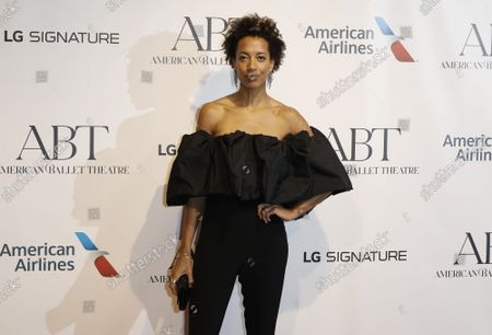 Fashion designer Carly Cushnie arrives on the red carpet at American Ballet Theatre's Fall Gala at the David H. Koch Theater on Tuesday, October 26, 2021 in New York City.       .