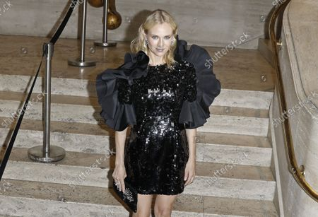 Actress Diane Kruger arrives on the red carpet at American Ballet Theatre's Fall Gala at the David H. Koch Theater on Tuesday, October 26, 2021 in New York City.       .