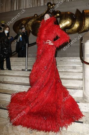 Di Mondo arrives on the red carpet at American Ballet Theatre's Fall Gala at the David H. Koch Theater on Tuesday, October 26, 2021 in New York City.       .