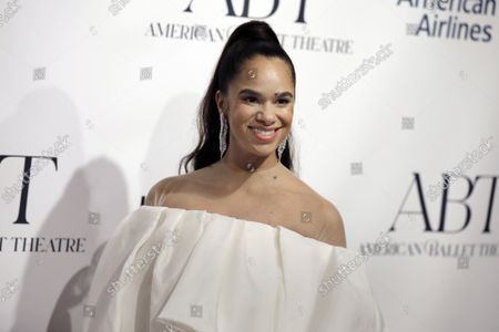 Ballet Dancer Misty Copeland arrives on the red carpet at American Ballet Theatre's Fall Gala at the David H. Koch Theater on Tuesday, October 26, 2021 in New York City.       .