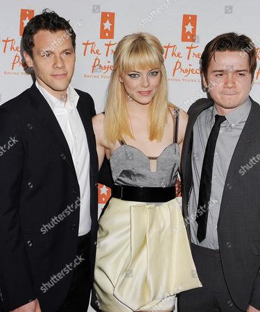 Will Gluck, Emma Stone and Dan Byrd