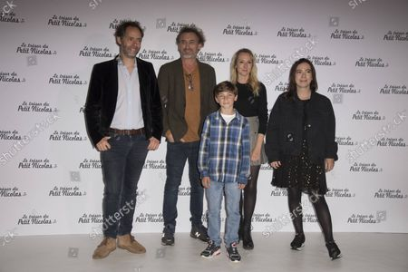 Julien Rappeneau Audrey Lamy Jean Paul Rouvre Ilan Debrabant and Adeline D Hermy at the premiere of the film The treasure of little Nicolas at the cinema Le Grand Rex in Paris, France on October 3, 2021