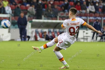 Stock Picture of Roma's Stephan El Shaarawy in action during the Italian Serie A soccer match Cagliari Calcio vs AS Roma at Unipol Domus stadium in Cagliari, Italy, 27 October 2021.