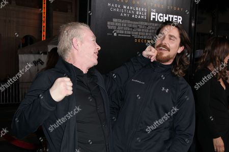 Dicky Eklund and Christian Bale
