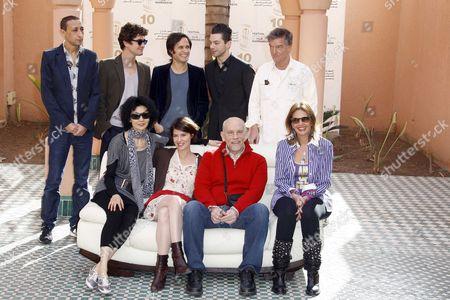 Stock Image of Faouzi Bensaidi, Riccardo Scamarcio, Gael Garcia Bernal, Dominic Cooper and Benoit Jacquot, Maggie Cheung, Irene Jacob, John Malkovich and Yousra