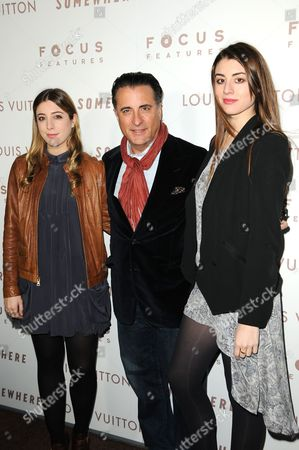 Andy Garcia and Daughters Dominik Garcia-Lorido and Alessandra Garcia-Lorido