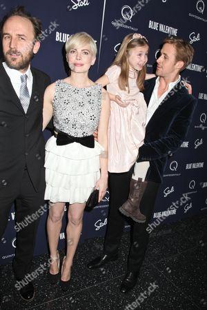 Derek Cianfrance, Michelle Williams, Faith Wladyka & Ryan Gosling