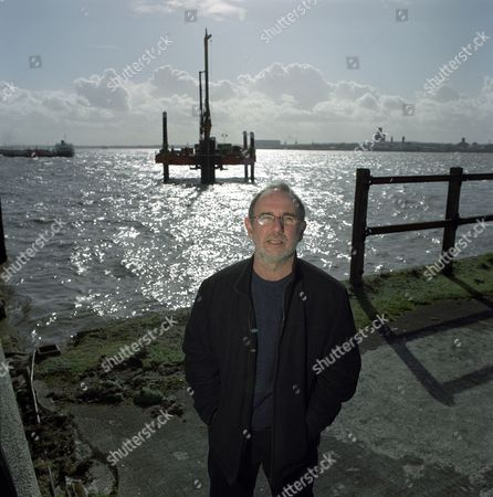 Stock Image of Jimmy McGovern in Liverpool, Britain