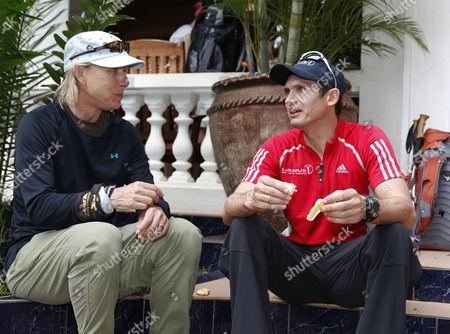 Martina Navratilova and Michael Teuber just before the departure to Kilimanjaro.