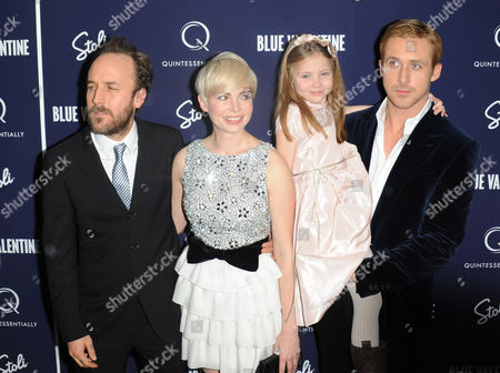 Derek Cianfrance and Michelle Williams and Faith Wladyka and Ryan Gosling