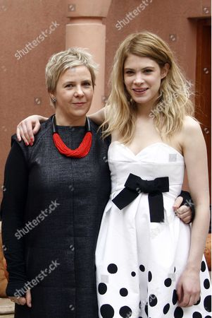 Stock Photo of Director Sophie Schoukens and Hande Kodja