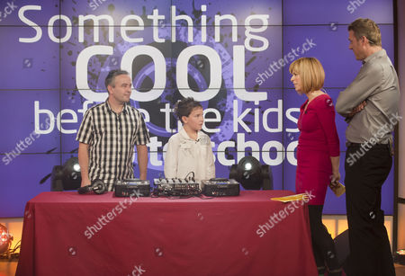 Jack Hill with his father Bob and Kate Garraway and Dan Lobb