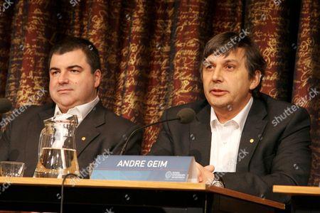 Konstantin Novoselov, Andre Geim, Physics Laureates