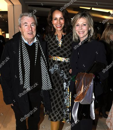 Stock Image of Terry O'Neill, Andrea Dellal and Lorraine Ashton
