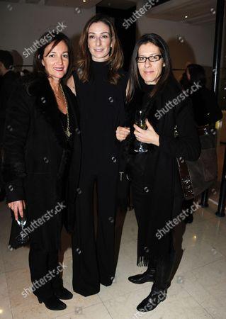 Daniela Agnelli, Sara Ferrero and guest