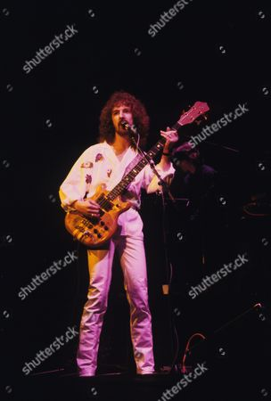 Stock Image of Barclay James Harvest - Les Holroyd in concert at the Hammersmith Odeon, London