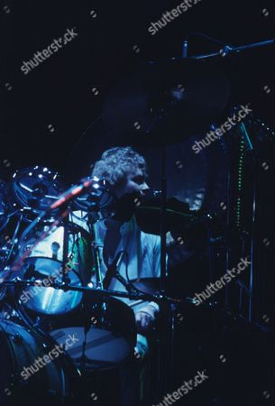 Stock Picture of Barclay James Harvest - Mel Pritchard in concert at the Hammersmith Odeon, London