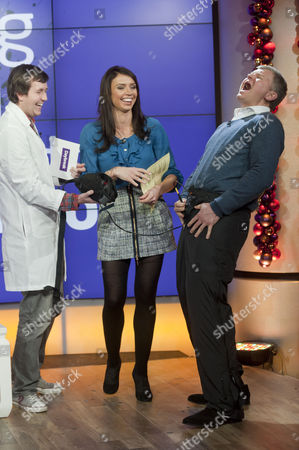 Stock Image of Stuart McFeat with Adrian Chiles and Christine Bleakley