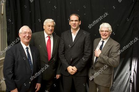 John Dawes, Willie John McBride, Martin Johnson and Finlay Calder