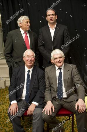 (Back) Willie John McBride, Martin Johnson, (Front) John Dawes and Finlay Calder