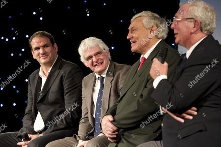 Martin Johnson, Finlay Calder, Willie John McBride and John Dawes