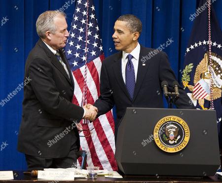 James McNerney Jnr and United States President Barack Obama