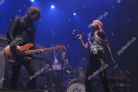 Editorial image of Black Rebel Motorcycle Club in concert at Brixton Academy, London, Britain - 11 Dec 2010