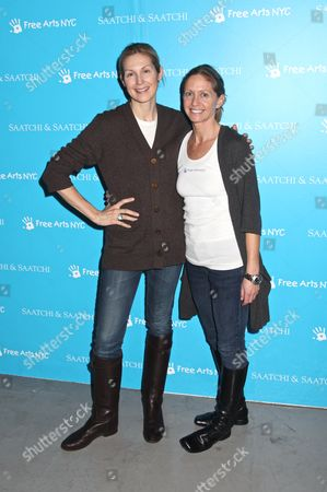 Kelly Rutherford and Executive Director Free Arts NYC Liz Hopfan