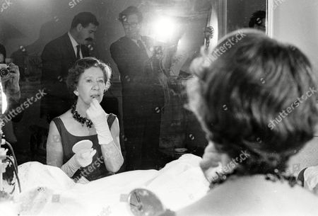 Flora Robson in make-up