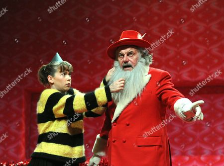 Imogen Doel (Holly) and David Sterne (Santa)