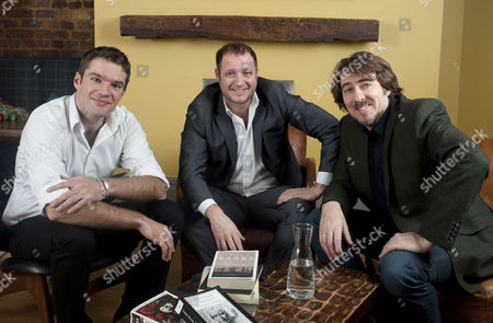 Stock Image of Artistic Director Julien Plante, Cinemoi founder and CEO Olly Bengough and Jonathan Ross