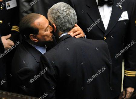 Prime Minister Silvio Berlusconi and Pier Ferdinando Casini