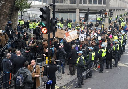 Protesters outside New Scotland Yard