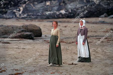Mel Martin as Demelza Poldark and Gabby Neiers Lloyd as Jane Gimlet