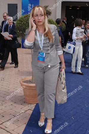 Editorial photo of Catia Polidori in Siena, Italy - 25 May 2009