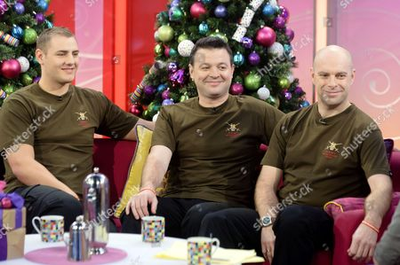 The Soldiers - Lance Corporal Ryan Idzi, Sergeant Richie Maddocks and Sergeant Major Gary Chilton chat to Presenter Lorraine Kelly